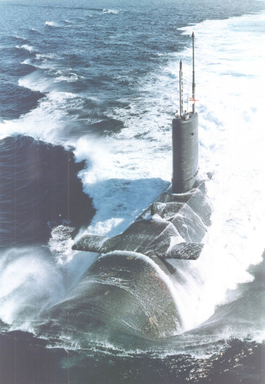 HMS Courageous at Speed