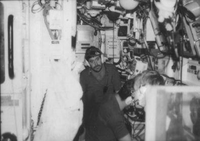 HMS Onslaught sonar room, Baltic Patrol