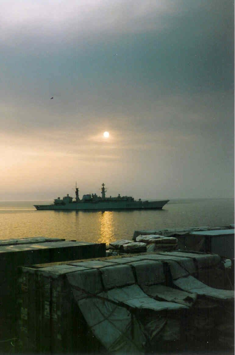 HMS London in the Gulf 91