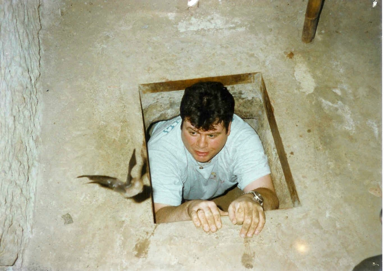 Cu Chi tunnels Vietnam with friend