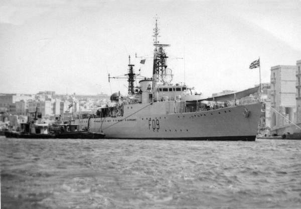 HMS Troubridge at Malta