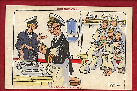 Our Sailors - Muster at sickbay
