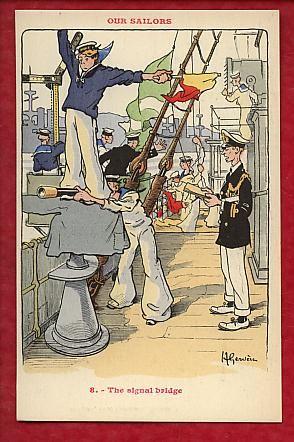 Our Sailors - The signal bridge