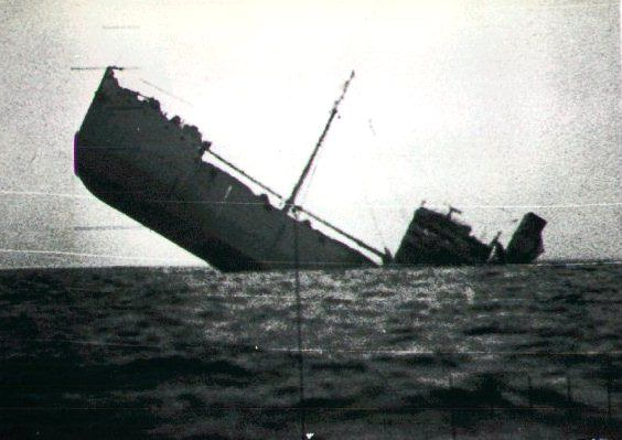 Merchantmans final journey - sunk by torpedo WWII