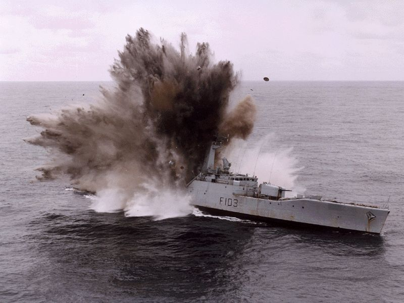 The end of HMS Lowestoft