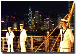Ceremonial Sunset in Hong Kong