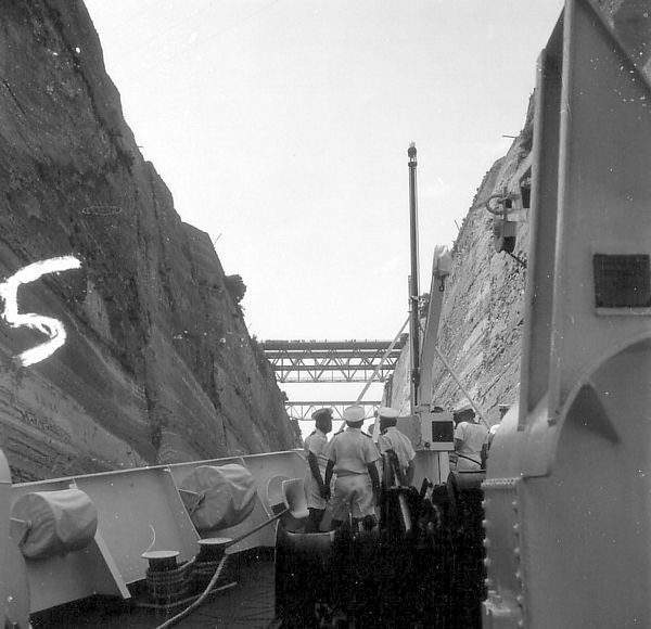 hms hecate in the corinth canal