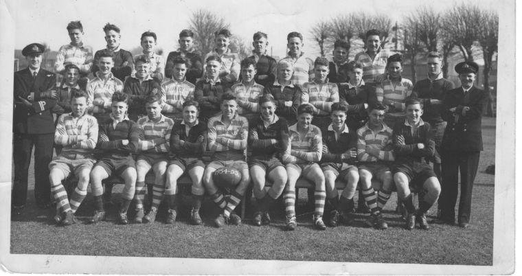 HMS St Vincent v HMS Ganges rugby XV 1954/55 season