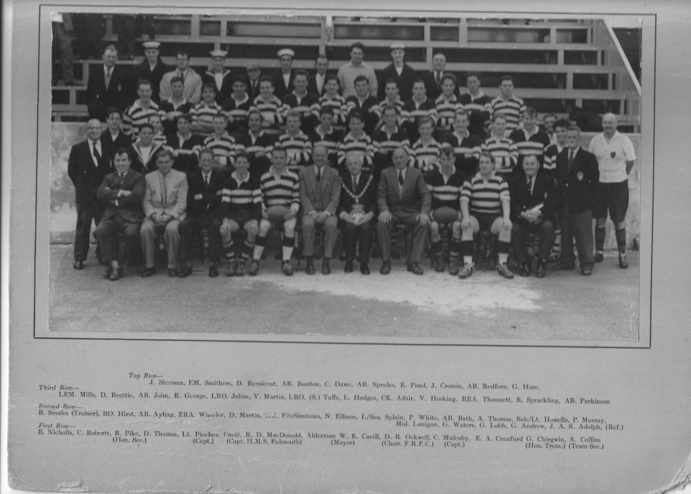 Falmouth v HMS Falmouth rugby 1961
