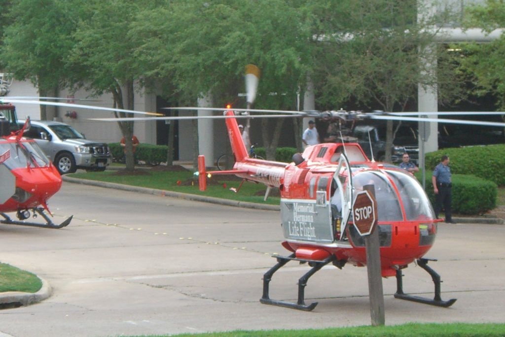 Life Flights landed for burns victims March 25th 2007