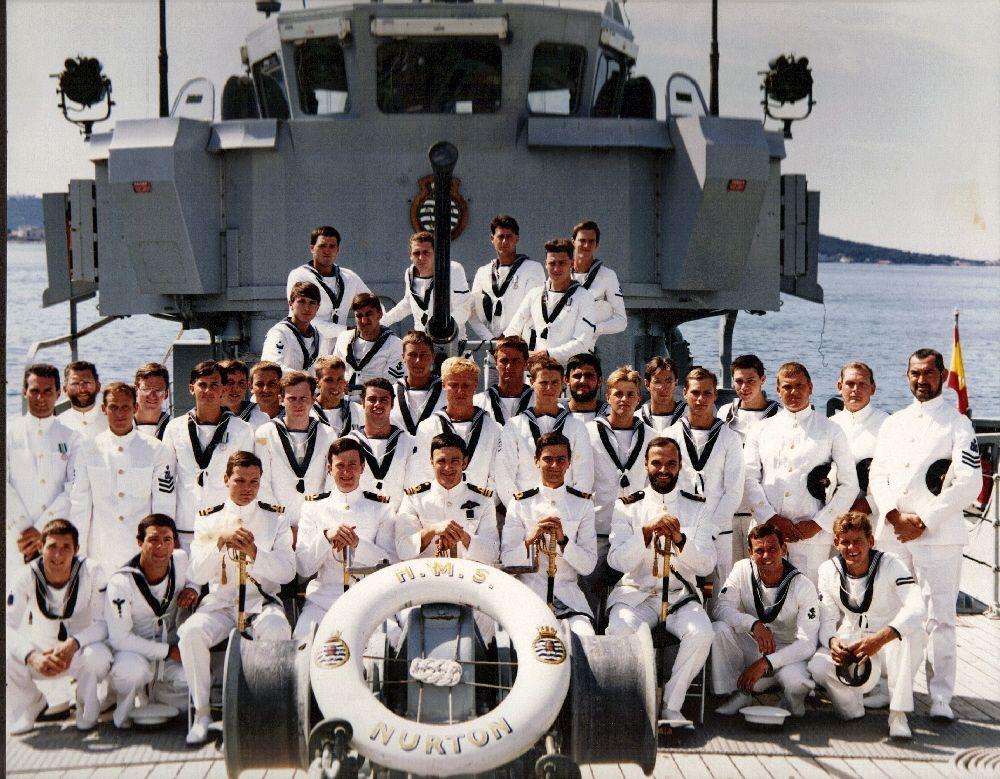 Hms Nurton in Toulon 1985