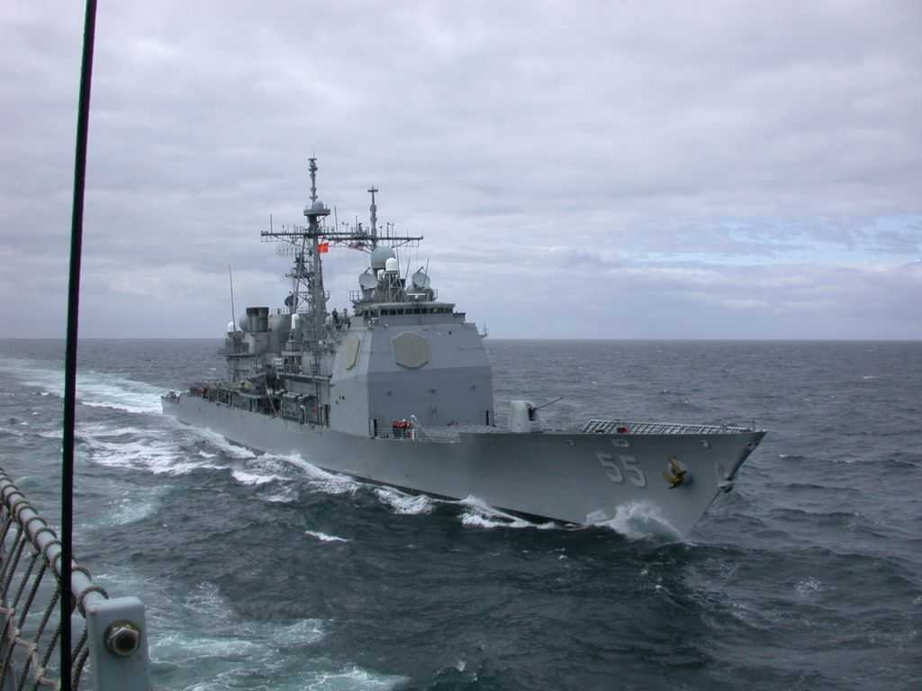 USS Leyte Gulf - RAS Approach