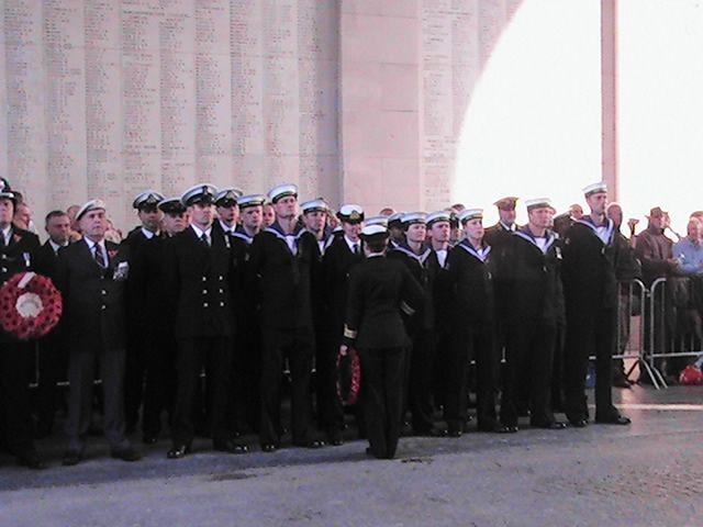 Menine gate 2007 Ypres last post, RNR HMS Calliope