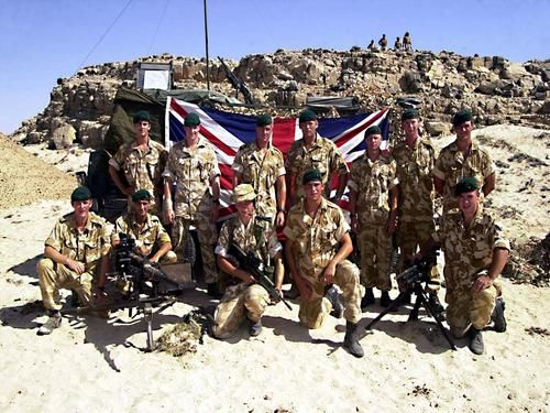 Royal Marines from 45 Commandos machine gun troop on exercise Saif Sarrea in Oman