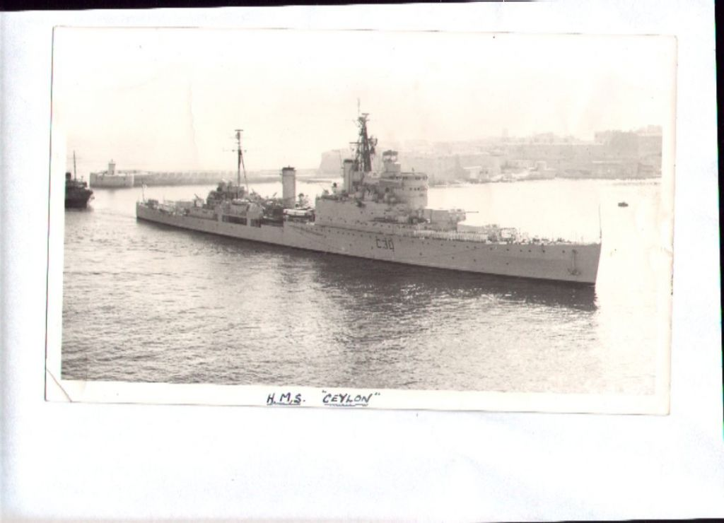 HMS CEYLON entering Malta 1958
