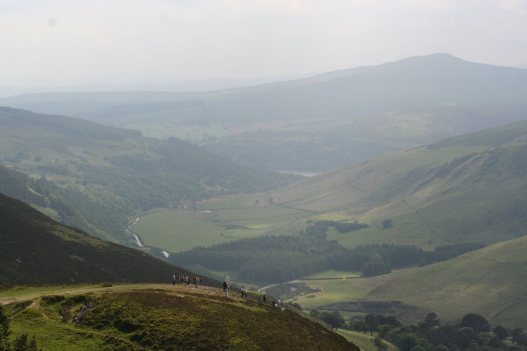 Tourists at Lough Tay Ireland