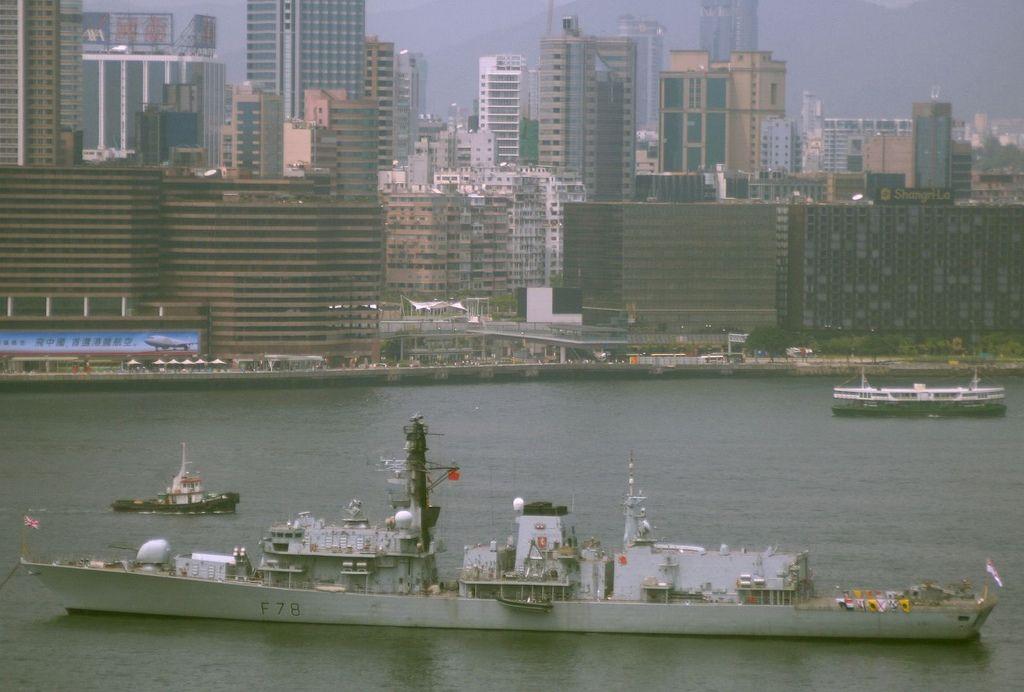 HMS KENT VISITS HONG KONG
