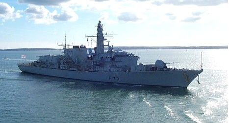 HMS Portland entering Portsmouth 7 October 2004