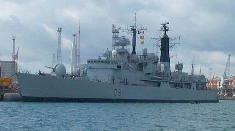 HMS Nottingham in Portsmouth July 2004