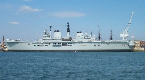 HMS Invincible at Portsmouth 2 Aug 2005