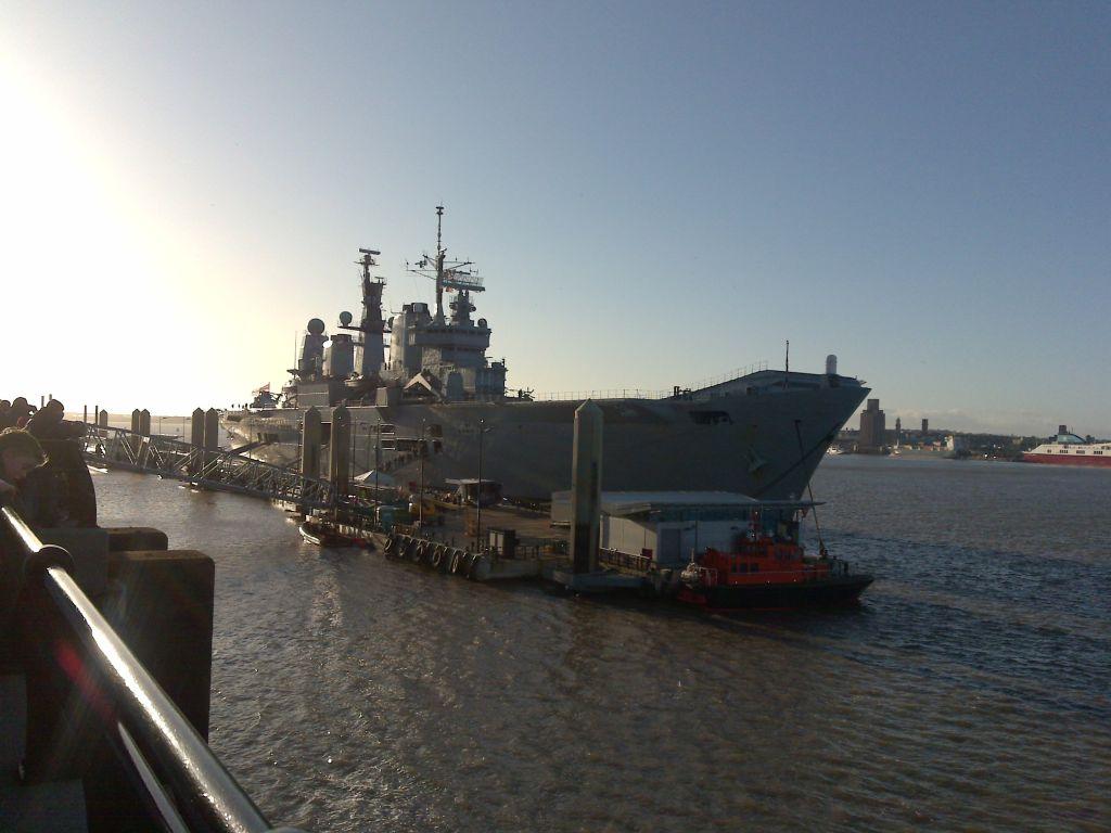 HMS Ark Royal in Liverpool 2009