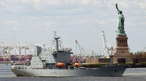 HMS Scott in New York harbour 24 May 2006