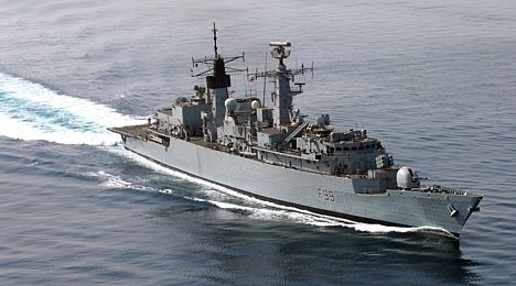 HMS Cornwall in the Arabian Gulf 28 May 2007