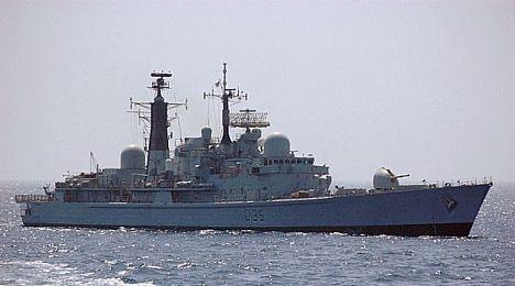 HMS Manchester in the Arabian Gulf 24 Jan 2008
