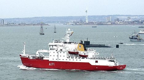 HMS Endurance at Trafalgar 200 Spithead Review