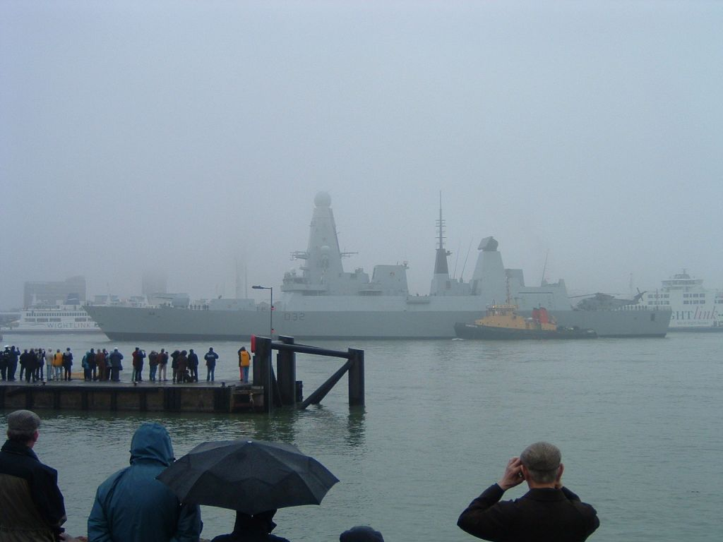 HMS Daring entering Pompey for 1st time