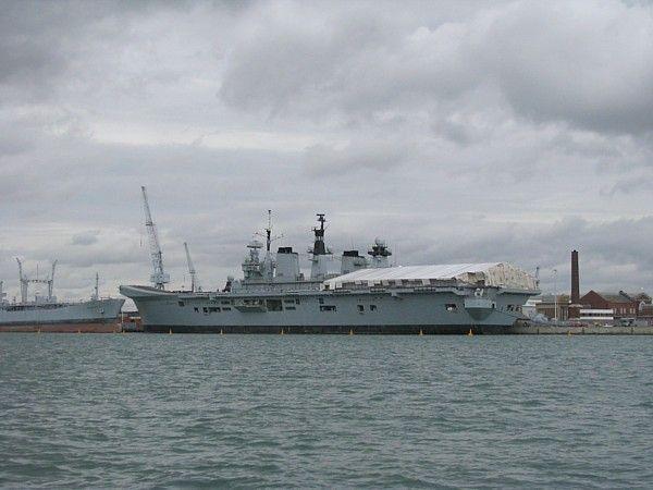HMS Illustrious at Portsmouth 12 Aug 2009