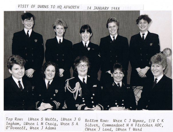 Director Wrns visit Afnorth 1988