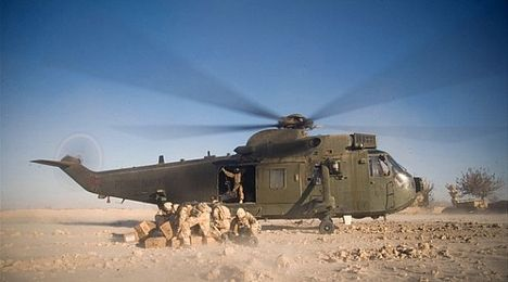 Royal Navy Sea King in Afghanistan