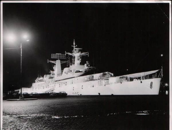 Floodlit Hms Hampshire