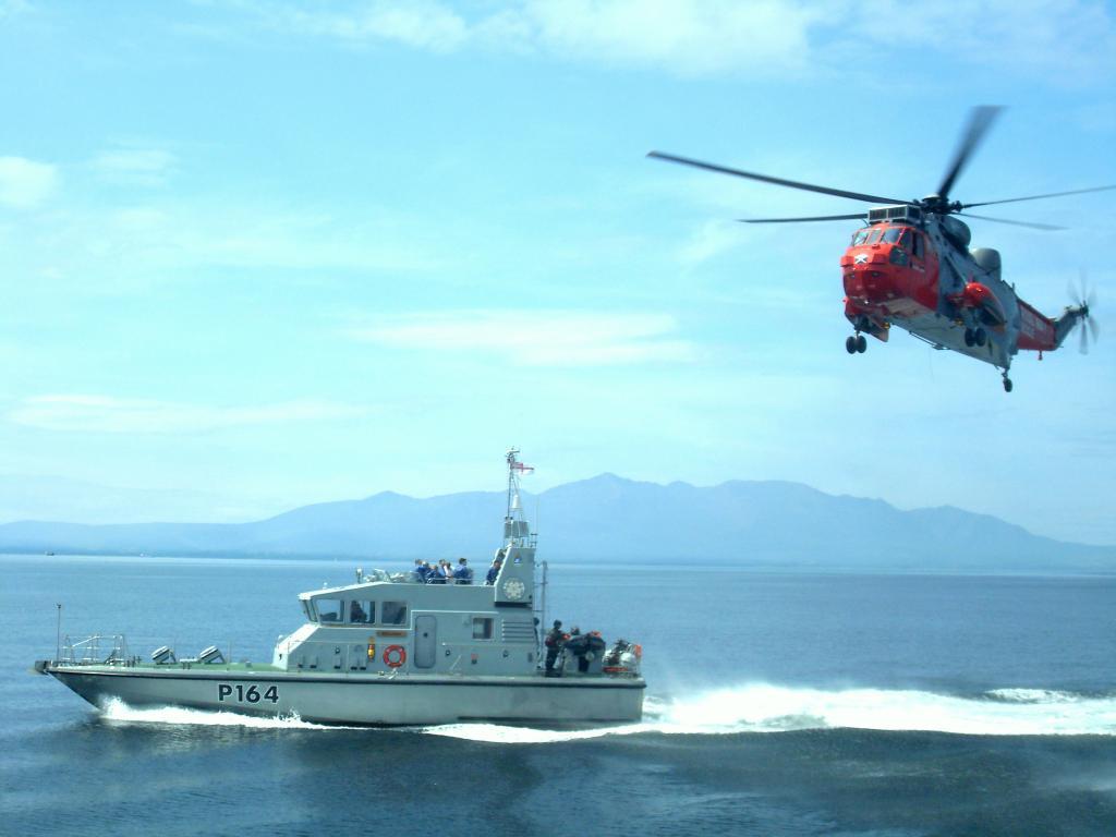 HMS Explorer winching ex