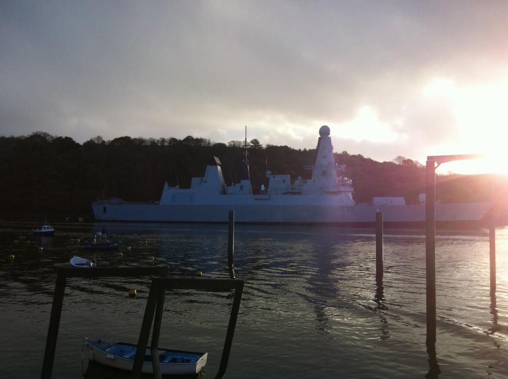 HMS Dragon at Fowey