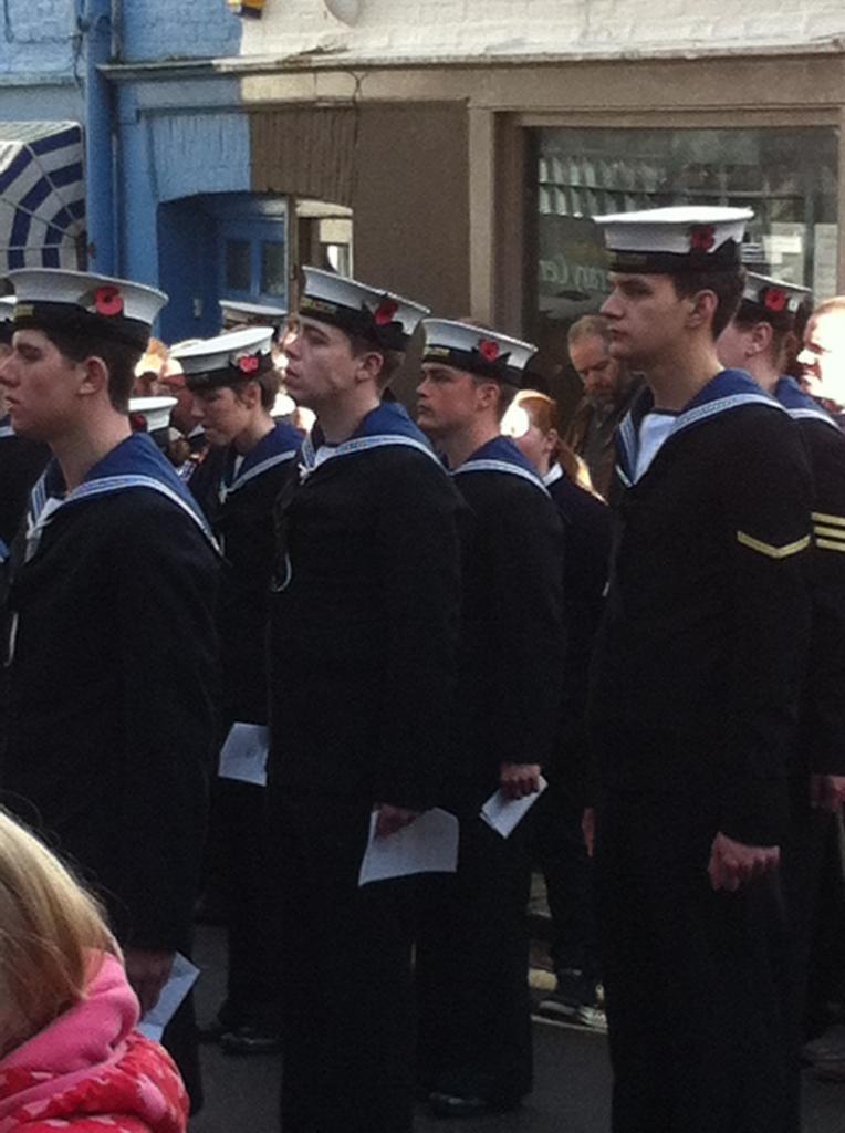 Rememberance Service 11/11/2012 HMS Dragon