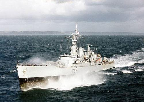 HMS Argonaut heading South 1982
