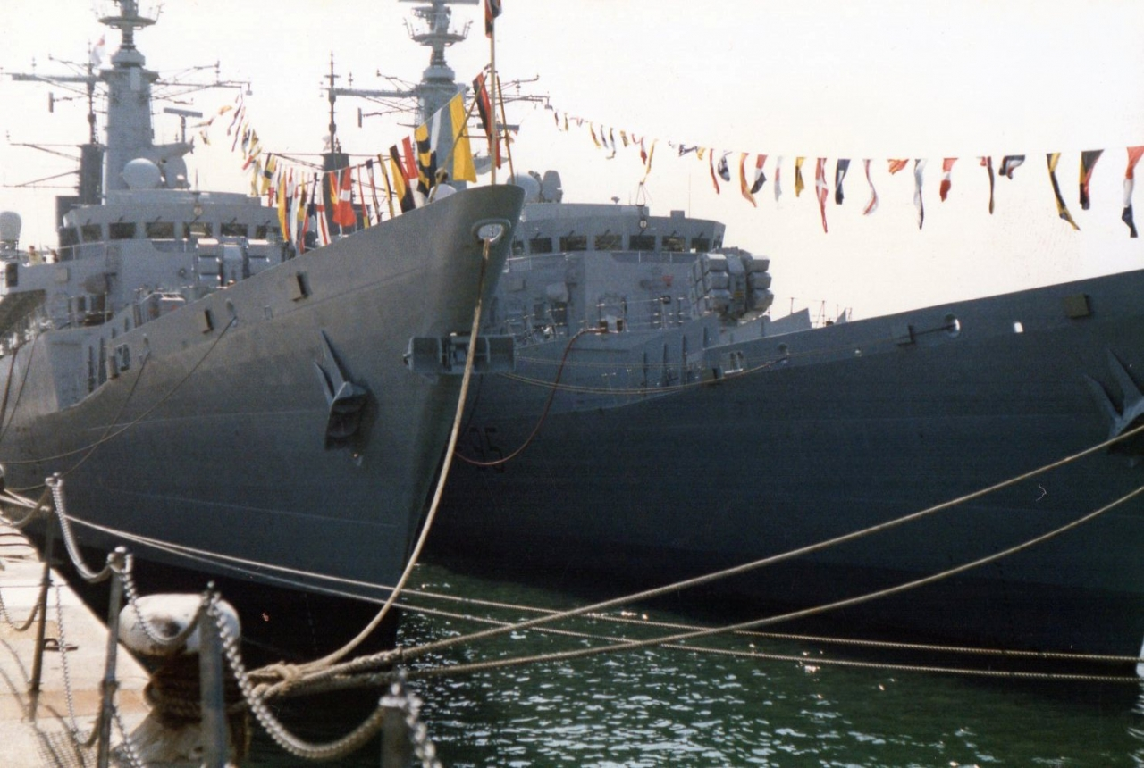 HM ships Brave and London