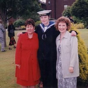 Me in 99 at my 'passing out' parade or shall I say 'passing in'?