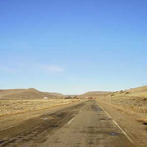 Patagonia - Only Road Into Armoured Brigade Cantonment in Punta Quilla