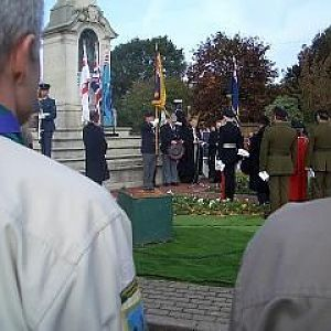 Me with wreath 12th Nov
