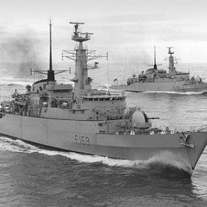 Hms Amazon in company with HMS Antelope