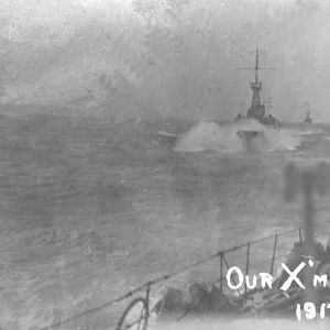 Our Christmas Day 1917.  HMS Cambrian.