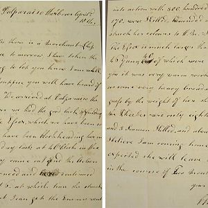 Charles Sampson RM ,1814 letter home to  his mother