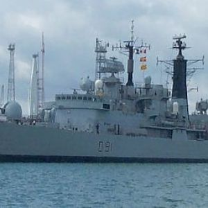 HMS Nottingham in Portsmouth July 2004