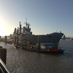 HMS Ark Royal in Liverpool 2009