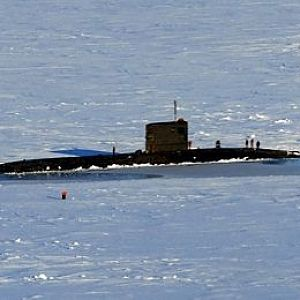 HMS Tireless in the Arctic ice 17 March 2007