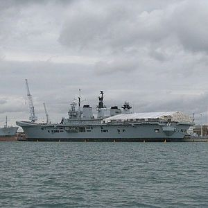 HMS Illustrious at Portsmouth 12 Aug 2009