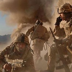 Royal Marines under fire in Afghanistan